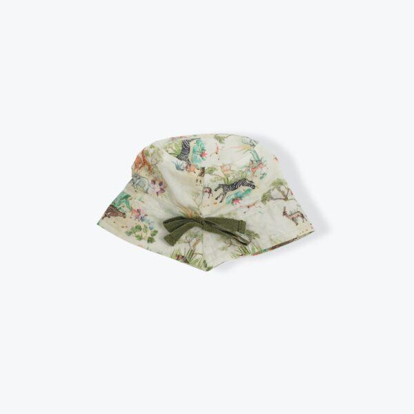 chapeau-bebe-imprime-savane