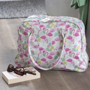 sac de week-end rex flamand rose flamingo