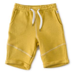 Short garcon uni jaune1