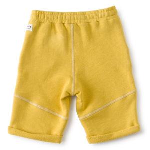 Short garcon uni jaune2